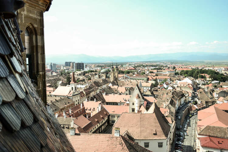 Sibiu View of the city from Tower