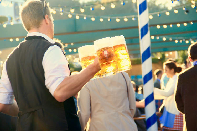 Waiter with Beer in Oktoberfest