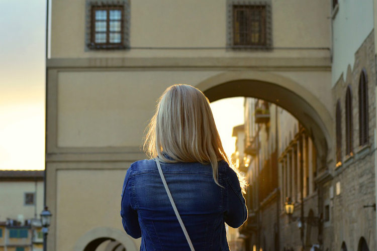 blonde Tourist in Florence